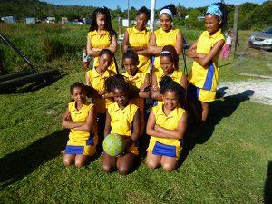 Die Mädchen Netball-Mannschaft